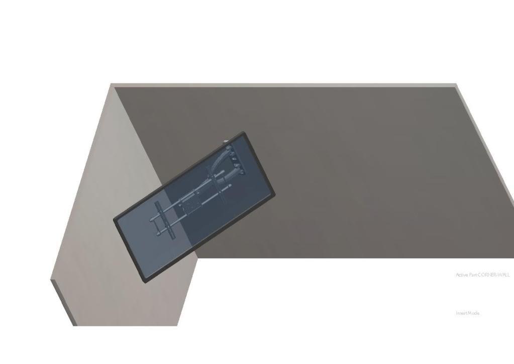 cotytech single arm wide vesa cantilever wall mount for large plasma led tvs. Black Bedroom Furniture Sets. Home Design Ideas